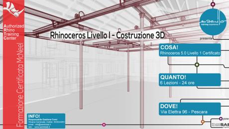 Corso Rhino – Costruzione Architettonica 3D – Livello 1 – Rhino 5.0 + Fondamenti di Grasshopper