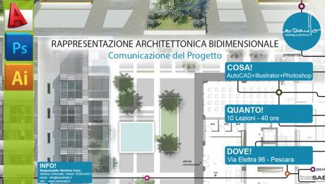 Rappresentazione Architettonica 2D AutoCAD+Illustrator+Photoshop