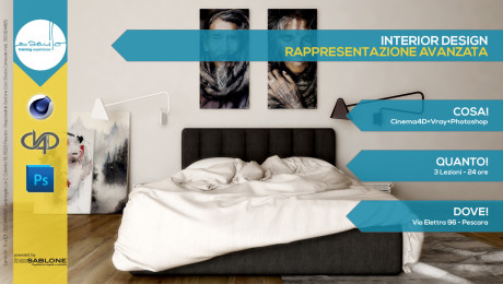 Interior Design: Rappresentazione Avanzata Cinema4D+Vray+Photoshop