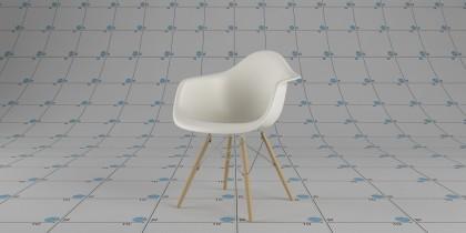 110-Eames Plastic Armchair DAW