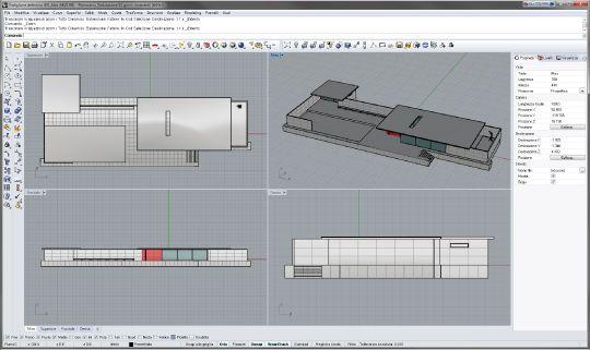 Tutorial rhino 3d messa in tavola piante e prospetti for Programmi architettura 3d