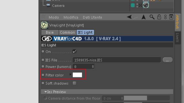 Tutorial Vray - Illuminazione IES Curve Fotometriche