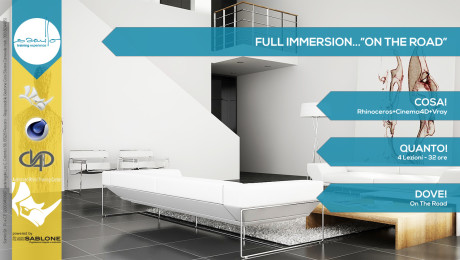 Full Immersion … On the road! RHINO+CINEMA4D+VRAY