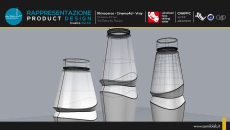 Rappresentazione del Product Design Rhino+Cinema4D+Vray