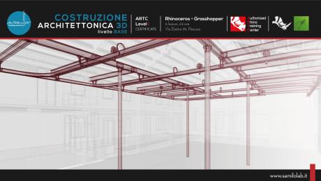 Corso Rhino – Costruzione Architettonica 3D – Livello 1 – Rhino 6.0 + Fondamenti di Grasshopper