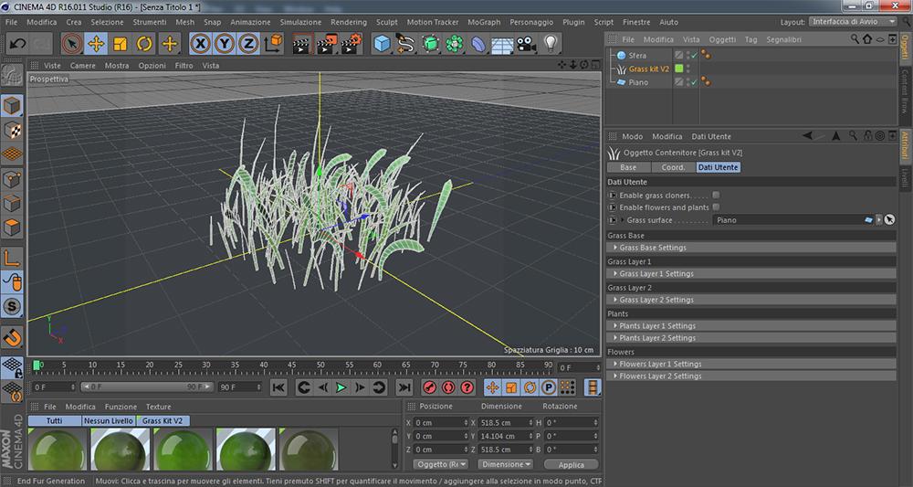 screen tutorial grass kit-3 filamenti