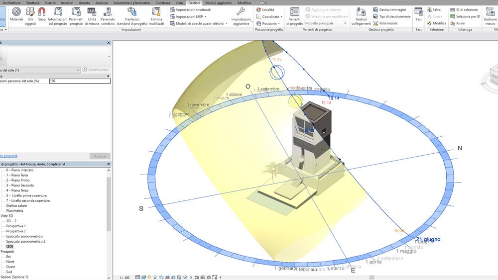 Tutorial grafico solare in revit for Software di progettazione di edifici domestici